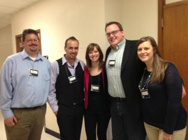 Left to Right: Neil Charvat, Gustavo Torrez, Rep. Kayie Overson, Rep Josh Boschee, and Krista Headland