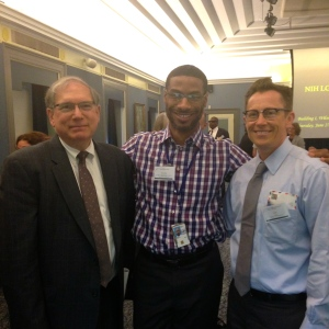 NIH Deputy Director Lawrence Tabak, their new LGBTI Program Manager Arnold Smith, and Scout